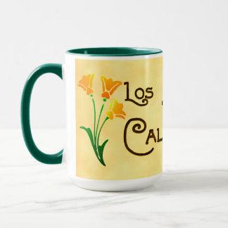 Los Angeles California Deco Poppy Mug