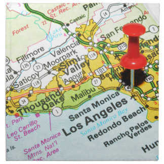Los Angeles, California Napkin