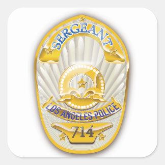 Los Angeles California Police Badge. Square Sticker