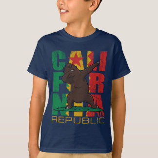 Los Angeles California Republic Dabbing Bear T-Shirt