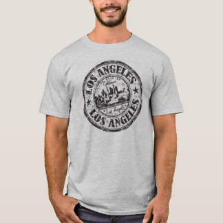 Los Angeles, California Rubber Stamp T-Shirt