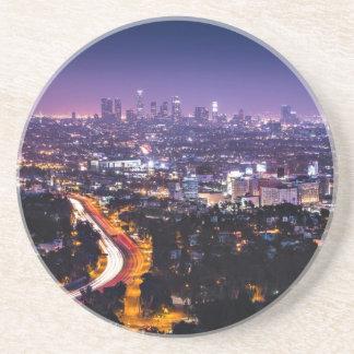 Los Angeles, California Skyline at night Coaster