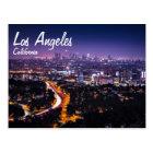 Los Angeles, California Skyline at night Postcard