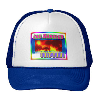 """Los Angeles California Sunset Palm Trees"" Hat"
