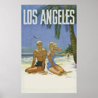 Los Angeles California Usa Travel Ad Vintage Poster