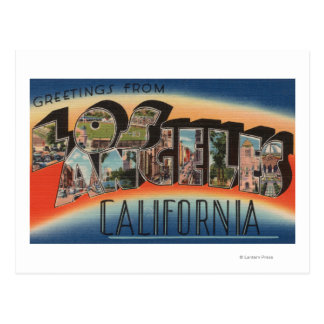Los Angeles, CaliforniaLarge Letter Scenes 2 Postcard