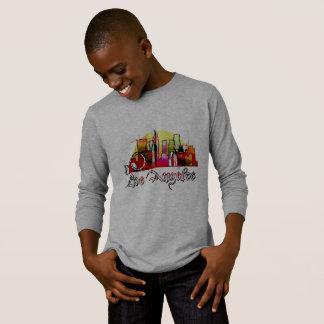 Los Angeles cartoon skyline T-Shirt