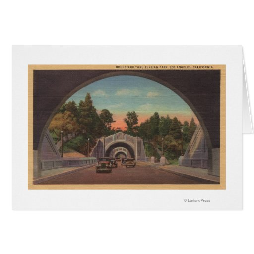 Los Angeles, CATunnel View of Elysian Park Cards