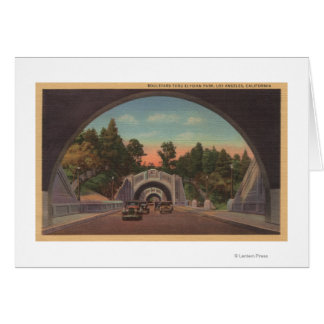 Los Angeles, CATunnel View of Elysian Park Greeting Card
