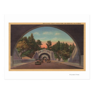 Los Angeles, CATunnel View of Elysian Park Postcard