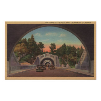 Los Angeles, CATunnel View of Elysian Park Poster
