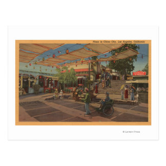 Los Angeles, CAView of Plaza in Chinatown Postcard