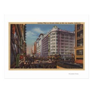 Los Angeles, CAView of Warner Bros. on 7th St. Postcard