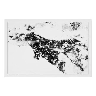 Los Angeles Census Dotmap Poster