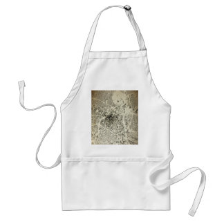 Los Angeles Downtown Streets and Buildings Vintage Standard Apron