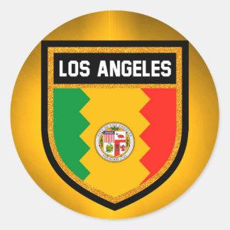 Los Angeles Flag Classic Round Sticker