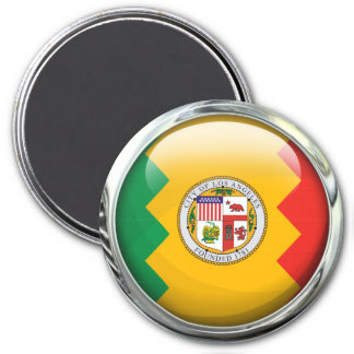 Los Angeles Flag Glass Ball Magnet