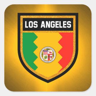 Los Angeles Flag Square Sticker