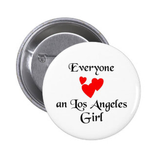 Los Angeles Girl Pinback Button