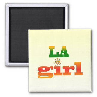 Los Angeles Girl Square Magnet