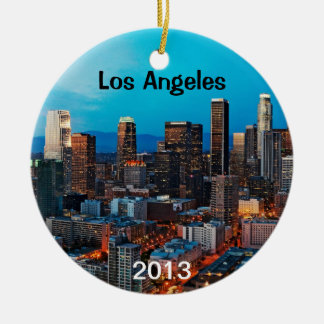 Los Angeles Keepsake Ceramic Ornament