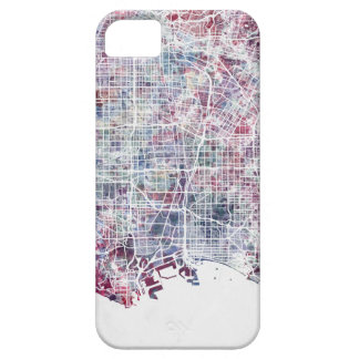 Los Angeles map California watercolor painting Barely There iPhone 5 Case