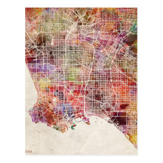 Los Angeles map Postcard