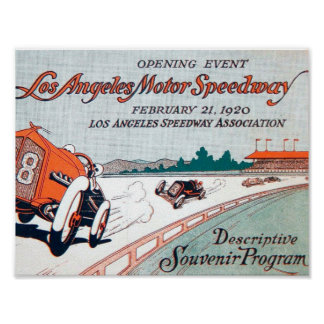 Speedway posters for Los angeles motor speedway