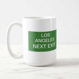 Los Angeles Next Exit Sign Coffee Mug