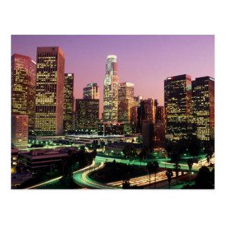Los Angeles Night Lights Postcard