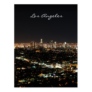 Los Angeles Night postcard