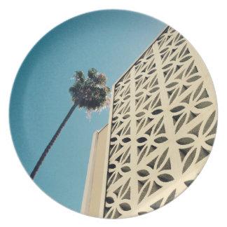 Los Angeles Palm & Architecture Melamine Plate