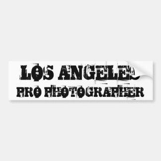 LOS ANGELES PRO PHOTOGRAPHER Bumper Sticker