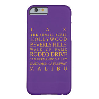 Los Angeles Purple-Gold iPhone 6/6s, Phone Case