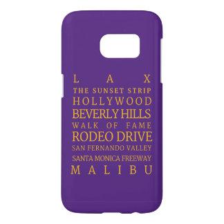 Los Angeles Purple-Gold Samsung Galaxy S7 Case