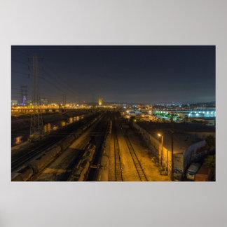 Los Angeles Rail Yard via 6th Street Bridge Poster
