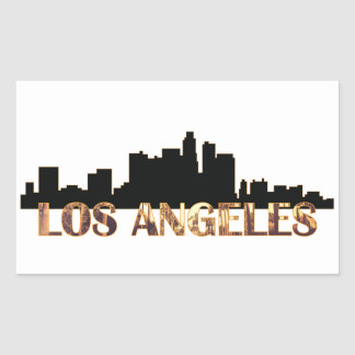 Los Angeles Rectangular Sticker
