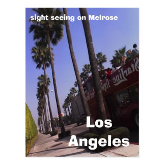 Los Angeles, sight seeing on Melrose Postcard