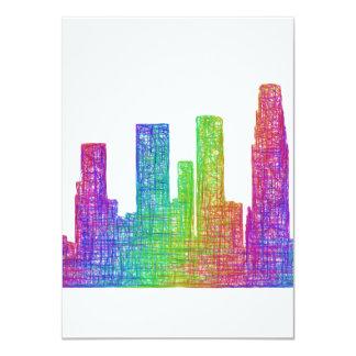 Los Angeles skyline Card