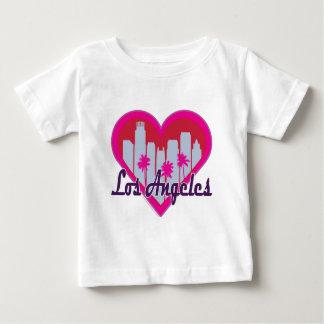 Los Angeles Skyline Heart Baby T-Shirt