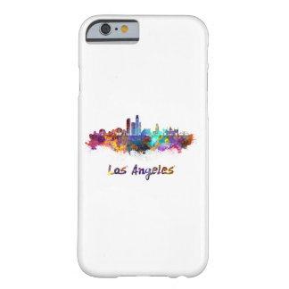 Los Angeles skyline in watercolor Barely There iPhone 6 Case