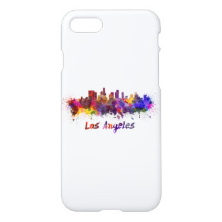 Los Angeles skyline in watercolor iPhone 8/7 Case