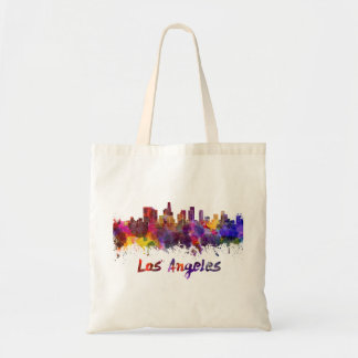 Los Angeles skyline in watercolor Tote Bag
