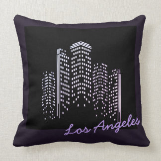 Los Angeles Skyline Polyester Pillow