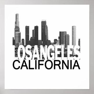 Los Angeles Skyline Poster