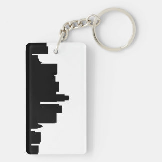 los angeles skyline silhouette america key ring