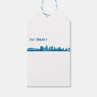 Los Angeles Skyline Silhouette Gift Tags
