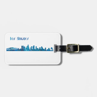 Los Angeles Skyline Silhouette Luggage Tag