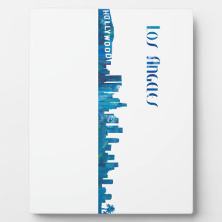 Los Angeles Skyline Silhouette Plaque