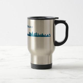 Los Angeles Skyline Silhouette Travel Mug
